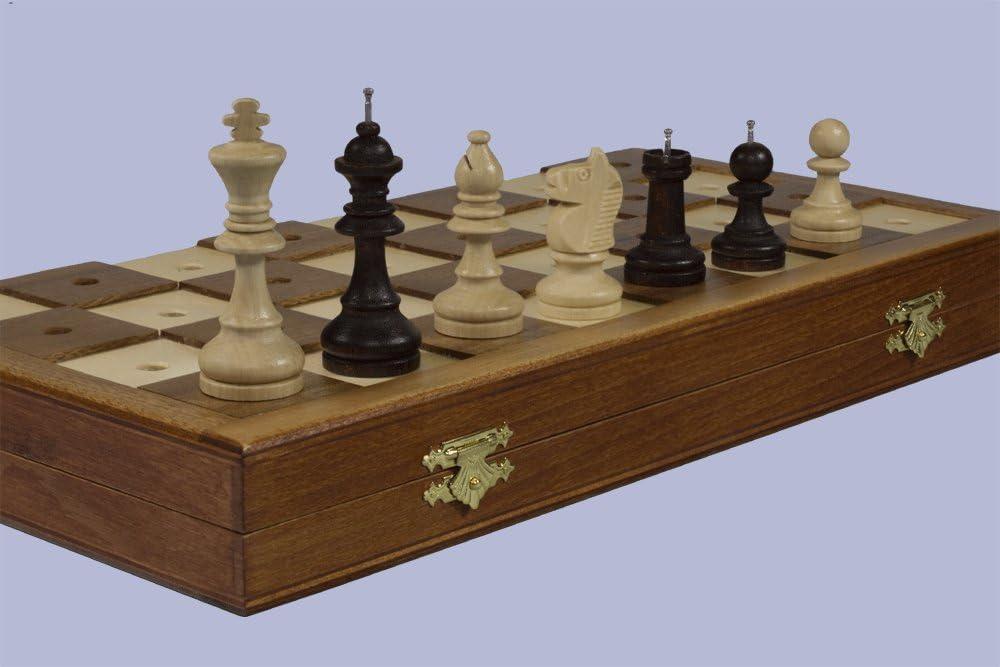 /échecs en bois massif fix/é pour les personnes aveugles Qualit/é