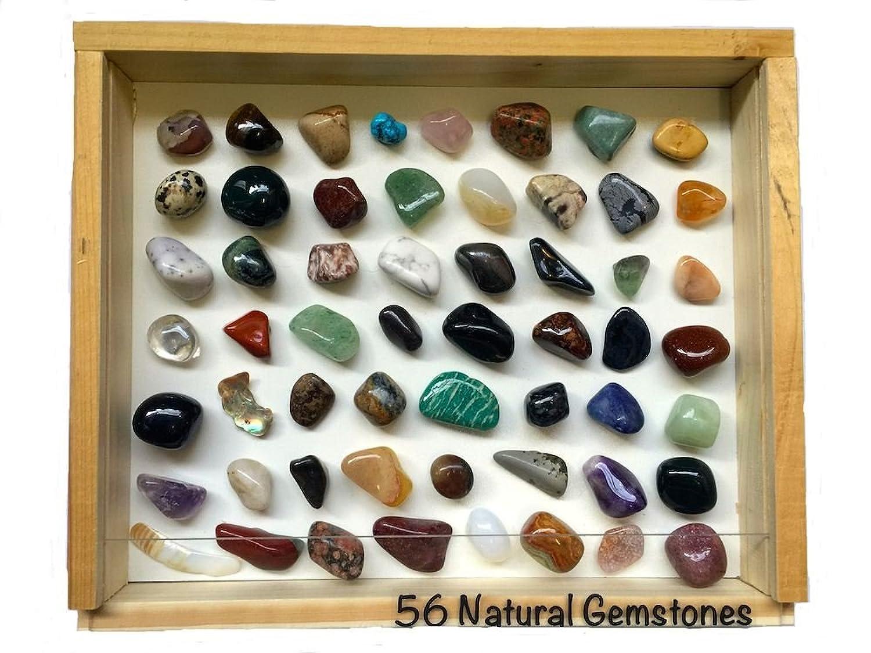 Conosciuto Set di pietre dure con 56 diverse pietre preziose, da 2 – 3 cm  GH81