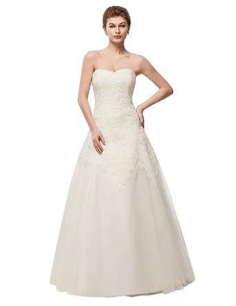 Wedding Dresses 2018.Yirenwansha 2018 Long Wedding Dress Manual Appliqued Strapless