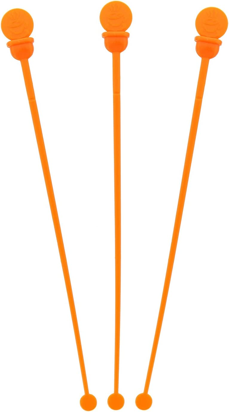 StixToGo Orange Stir N Plug Stix for Disposable Lids, Package of 200