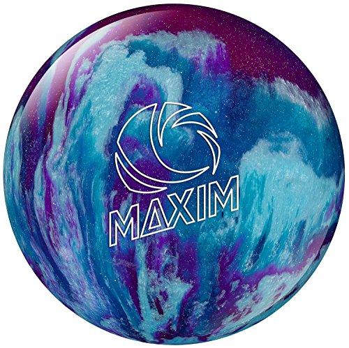 Ebonite Maxim Bowling Ball, Black/Purple/Gold, 10-Pound
