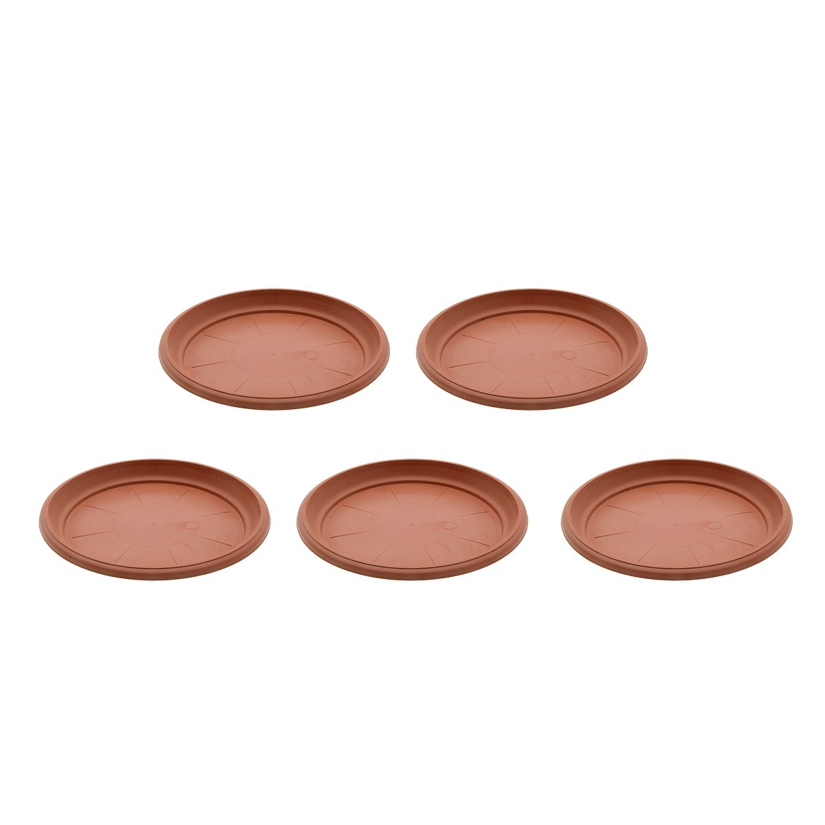 Saim Coffee Plastic Round Saucers Plant Pot Saucers Potted Plant Saucer Clay Plant Saucer Flower Plant Pot Saucer Pallet Trays For Indoor & Outdoor Plants, 8.9-Inch Diameter, Pack of 5