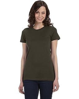 d01a787ce Amazon.com: Bella+Canvas Women's Short-Sleeve V-Neck Jersey Tee ...