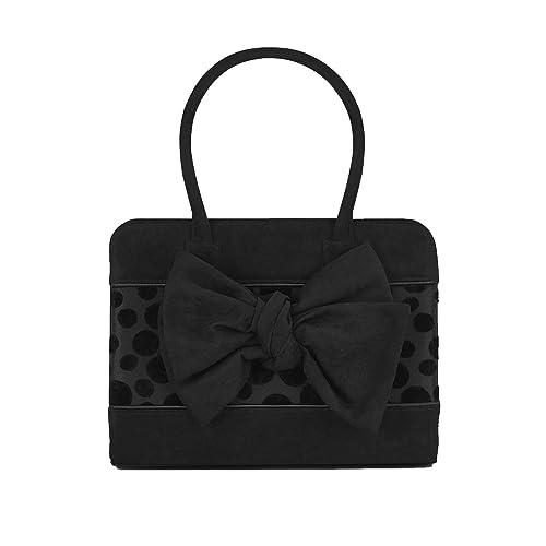 Ruby Shoo Seren Black Mid Heel Bow Boots /& Matching Dakota Bag