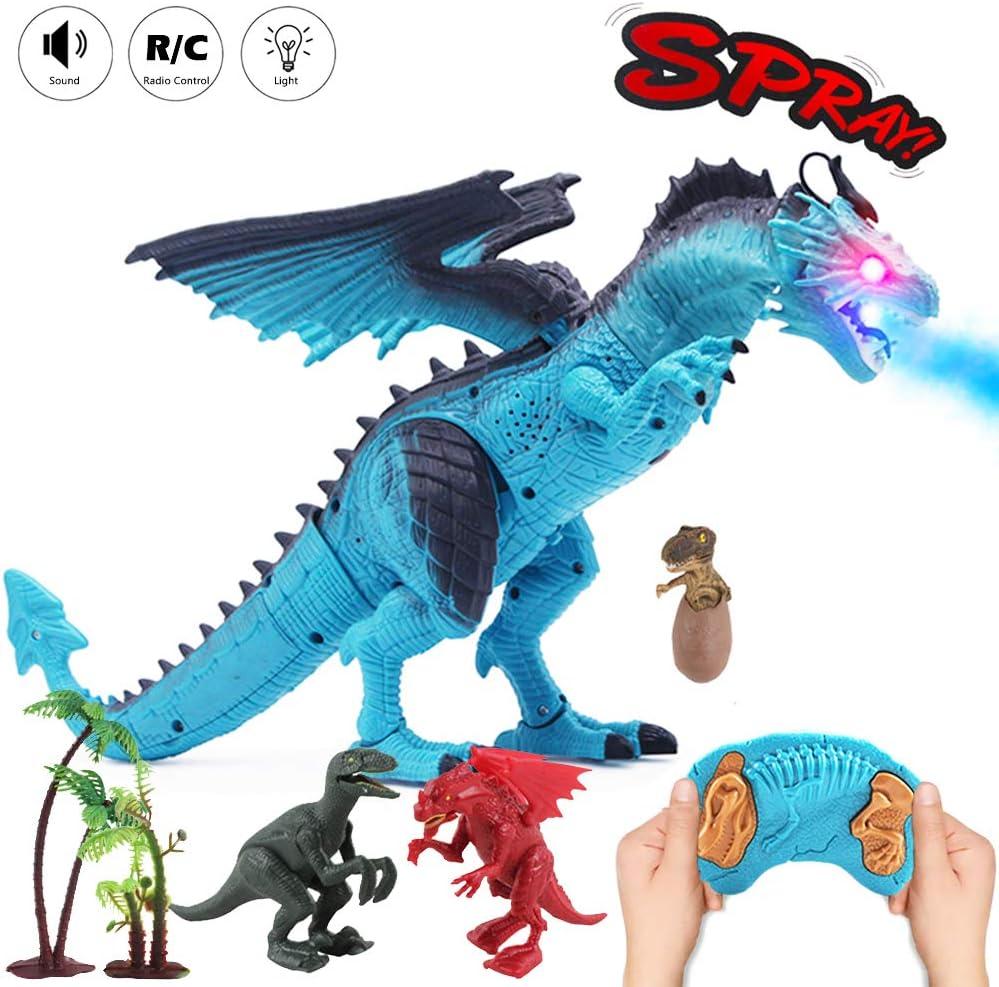 Shocking Electric Interactive Spray Dragon Toys Talking Walking Fire UK WHITE