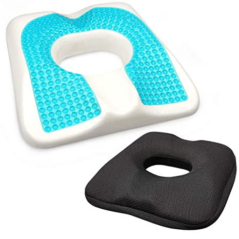 Seat Cushion For Back Pain >> Jiakanuo Gel Upgraded Seat Cushion Memory Foam Coccyx Cushion For Tailbone Pain Office Chair Car Seat Cushion Back Pain Fatigue Relief Black