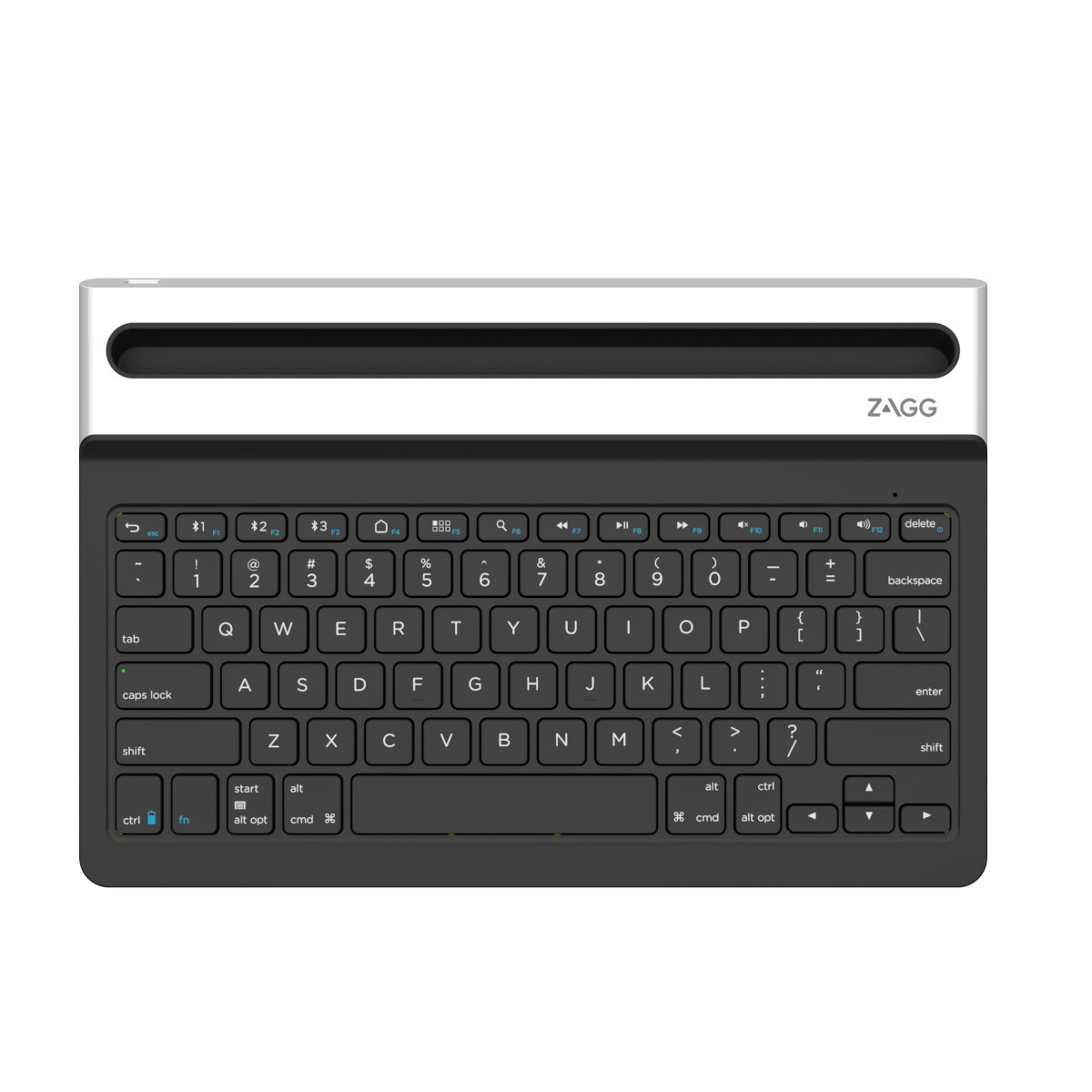 ZAGG Limitless, Full-Size Universal Bluetooth Keyboard for Apple, Windows, Android and other Bluetooth enabled devices - Black