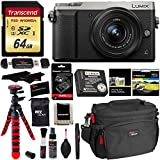 Panasonic LUMIX GX85 4K Mirrorless Interchangeable Lens Camera Kit Silver 12-32mm Lens, Polaroid Filter, Transcend 64 GB, DMW-ZSTRV Lumix Battery & External Charger, Cleaning Kit & Accessory Bundle