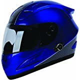 TORC T10B Prodigy Full Faced Helmet with Blinc 2.0 Stereo Bluetooth Technology and 'Absolute' Graphic (Blue) (L)