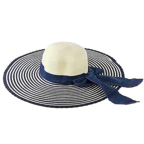 ZHDADA Sombrero De Sol Verano De Las Señoras Rayó Sombrero De Sol