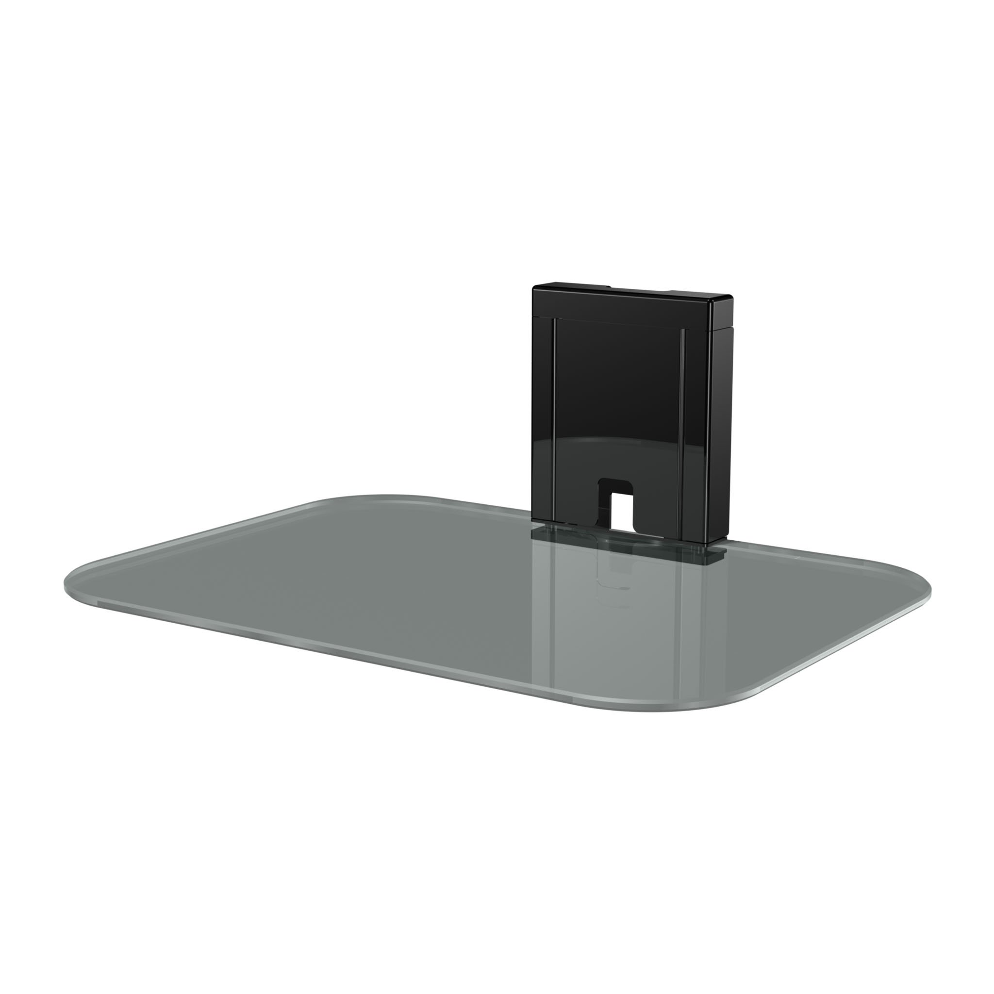 Sanus Tempered Glass On-Wall AV Shelf for Streaming Devices, Game Consoles, and Cable Boxes - SOA-AVS1 by Sanus