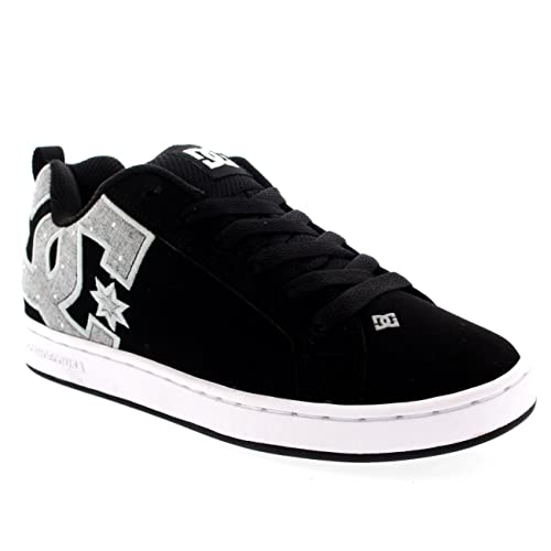 Mujer DC Shoes Court Graffik Gamuza Atado Zapatillas Skate Entrenadores - Negro/Azul - 42: Amazon.es: Zapatos y complementos