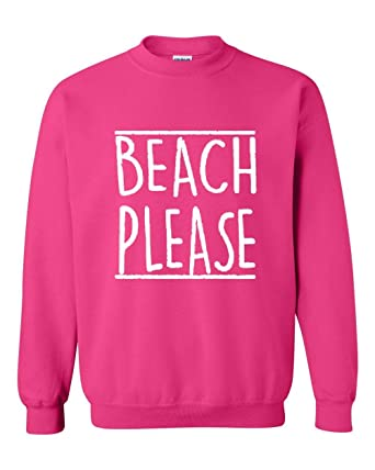 bdd691f014e2 Mom's Favorite Beach Sweatshirt Beach Please Summer Vacation Funny Birthday  Gift Unisex Crewneck Sweater at Amazon Women's Clothing store: