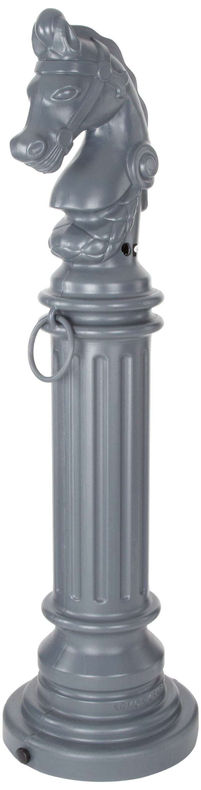 Eagle 1212GRAY SafeSmoker Decorative Cigarette Receptacle with Rubber Bottom, Hitching Post, 12-1/2'' Diameter x 44-1/2'' Height, Gray