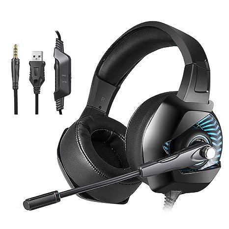 docooler ONIKUMA K6 Cuffie da gioco 3.5mm Wired Over Ear Cuffie Noise  Cancelling E- 440e02d9b974