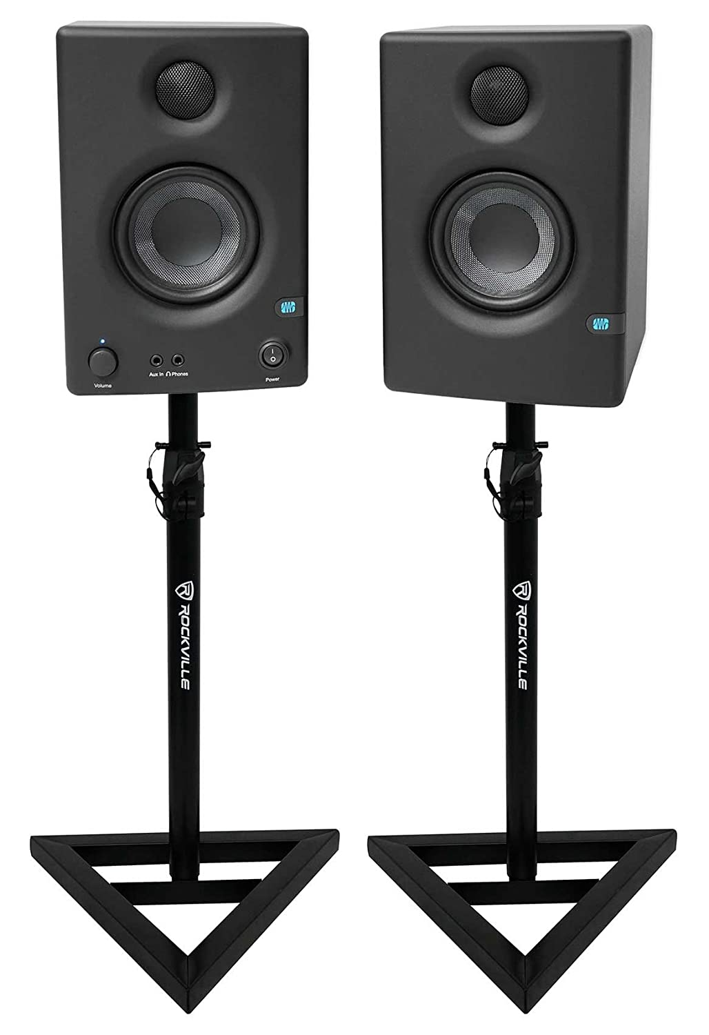 Pair Presonus Eris E3.5 3.5 Powered Active Studio Monitor Speakers+Stands Eris E3.5+RVSM1