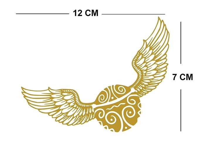 Harry Potter - Juego de 4 moldes de tela para planchar en serigrafía, lavables a máquina, diseño de búho, color dorado: Amazon.es: Hogar