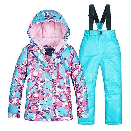YyZCL Snowsuit Ski Jacket Pants Children s Ski Wear Girls Set Thicken Warm  And Windproof Waterproof for 8603200f1