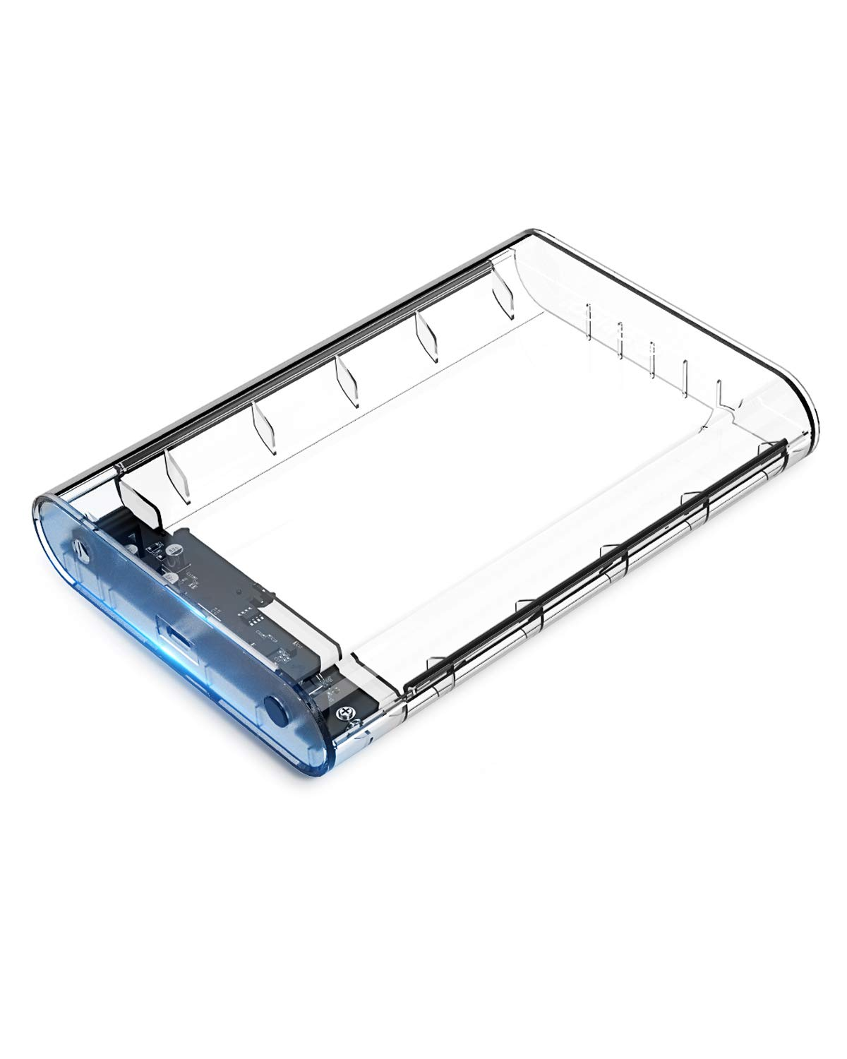 ORICO 3.5 inch USB C Hard Drive Enclosure for SATA HDD Support Max 8TB UASP SATA III Tool Free - Clear