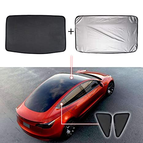 Mixsuper Mesh Car Window Sun Shadescar Sunroof Uv Rays Protection Window Shade For Tesla Model 3