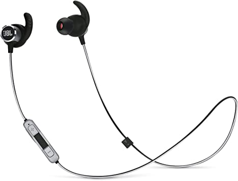 Amazon Com Jbl Reflect Mini 2 Wireless In Ear Sport Headphones With Three Button Remote And Microphone Black Electronics