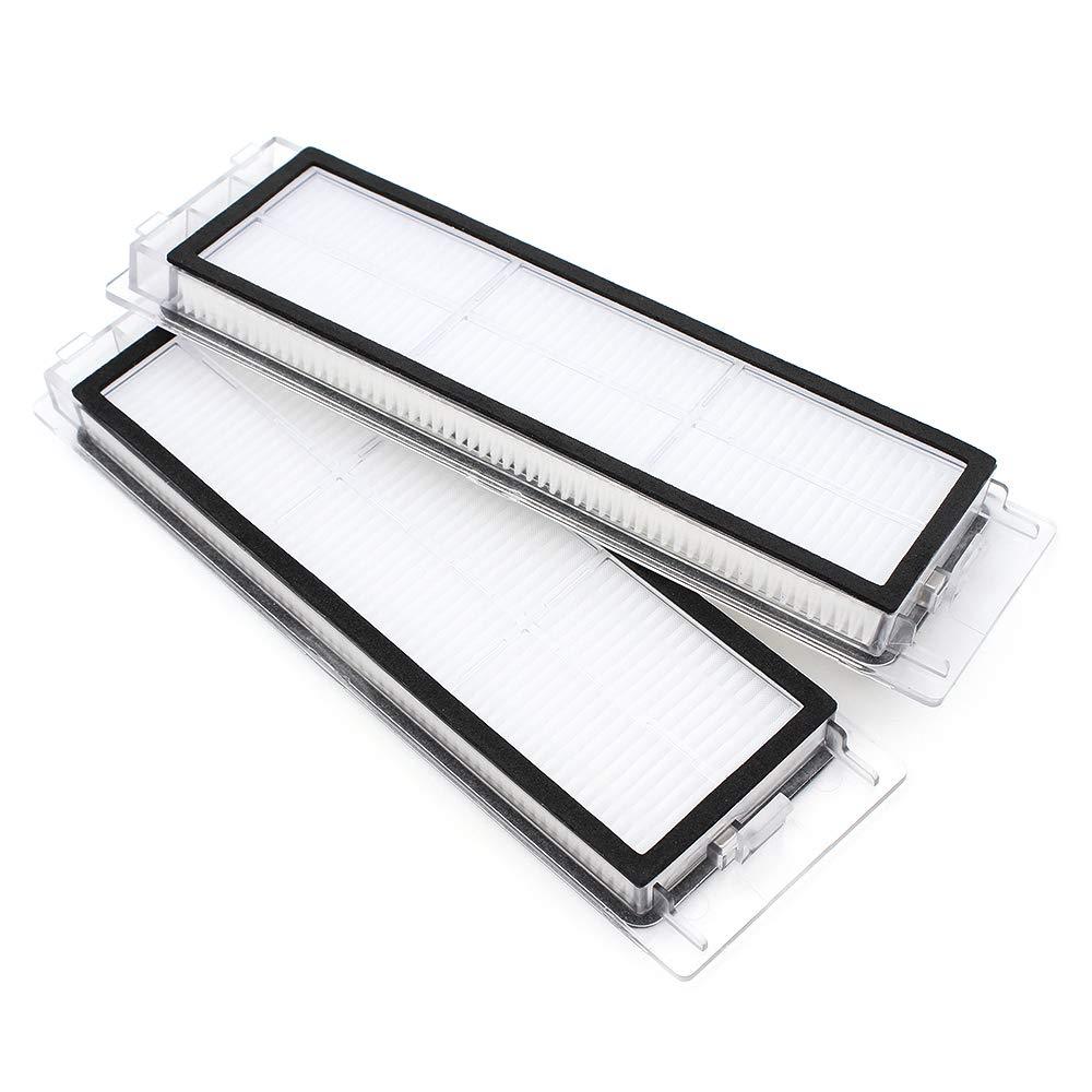 2 HEPA Filter DingGreat Kit di accessori per Xiaomi Roborock S55 S50 S51 Aspirapolvere 1 Spazzola per la pulizia 1 Copertura Spazzola Principale 2 Spazzola Laterale 1 Spazzola principale