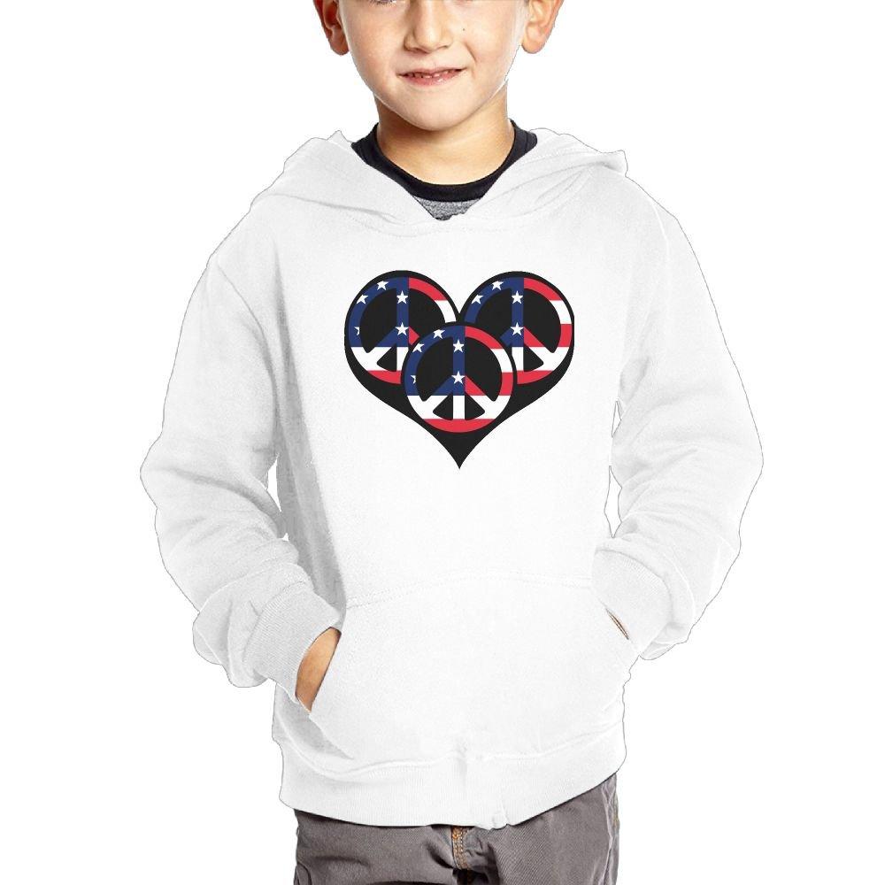 Peace and Love Boys Casual Soft Comfortable Sweatshirts Kangaroo Pocket Hoodies