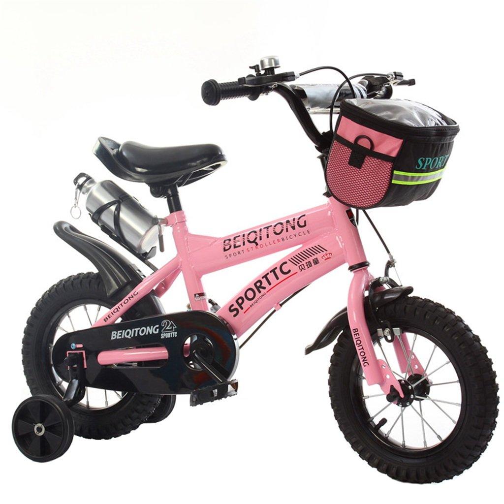 KANGR-子ども用自転車 子供用自転車適切な2-3-6-8男の子と女の子子供用玩具屋外用マウンテンバイクハンドルバーとサドルはトレーニングホイールで調節可能な高さにできますウォーターボトルとホルダー-12 / 14/16/18インチ ( 色 : ピンク ぴんく , サイズ さいず : 18 inches ) B07BTW3TDX 18 inches|ピンク ぴんく ピンク ぴんく 18 inches