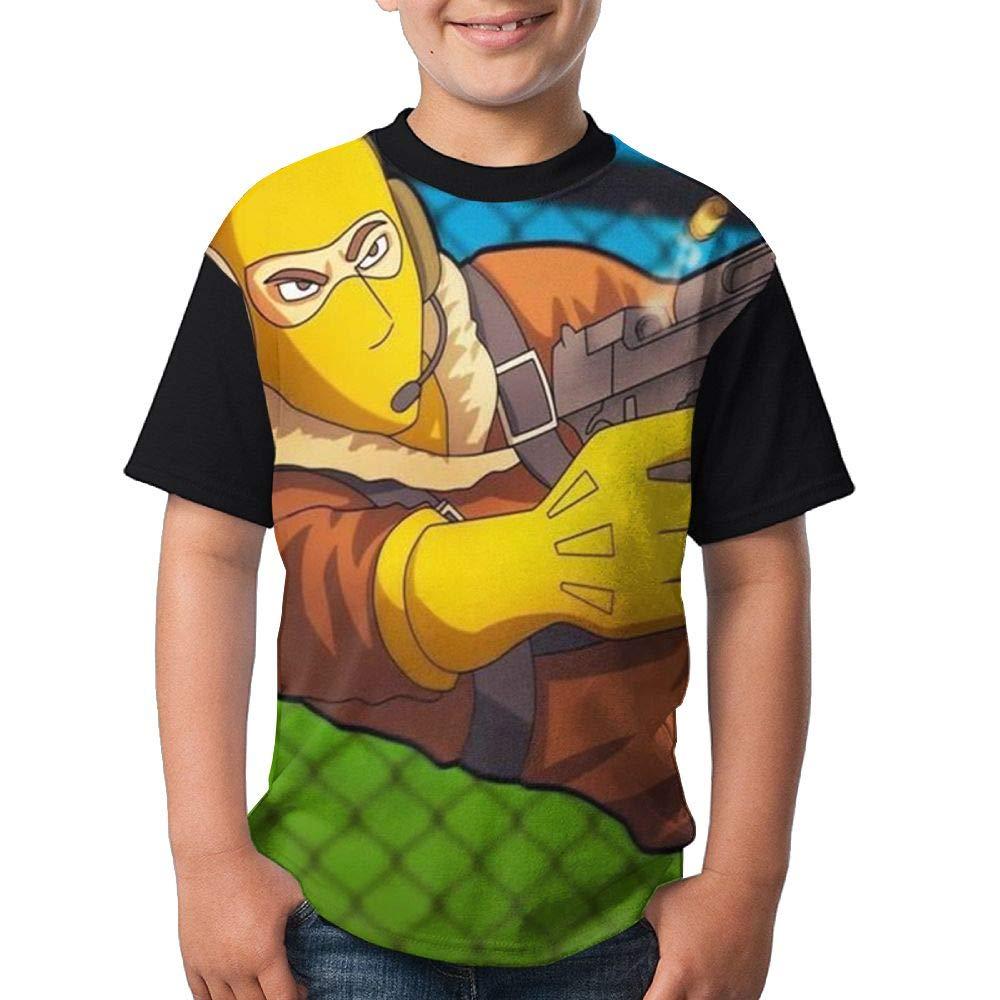 Cool Raptor Kid's Boy's Girl Short Sleeve Round Neck Funny Tops Tshirts M
