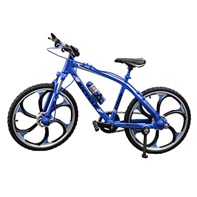 Urchins' Family Alloy Mini Bicycle Toy - Finger Bike for Collections (Straight Handlebar Racing Bike Blue): Toys & Games