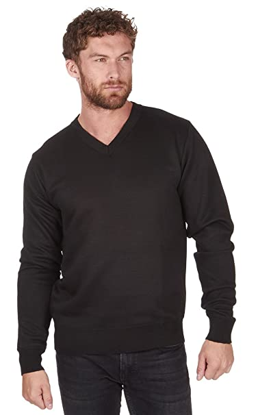 Pierre Roche Mens Long Sleeve VNeck Knitted Jumper Smart Casual Gift Regular Fit