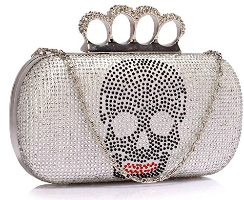 Sale Ivory Chain Party Women Design Clubs 1 Pattern Designer Clutch In Handbag For With Box Ladies Skull Bag For qwn6U7xAI