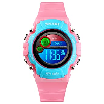 Amazon.com: Reloj digital unisex con luz LED, impermeable ...