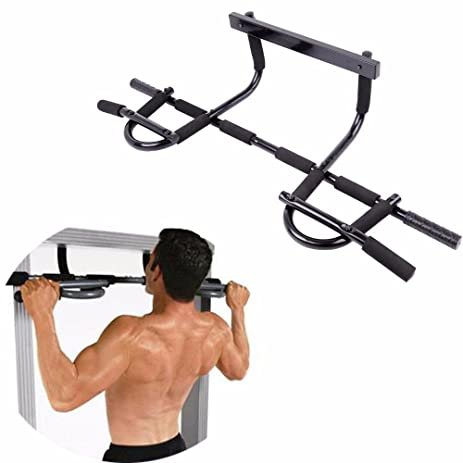 New Gym Chin Pull Up Door Way Exercise Bar Home Workout Strength Fitness  Equipment Multi Grip