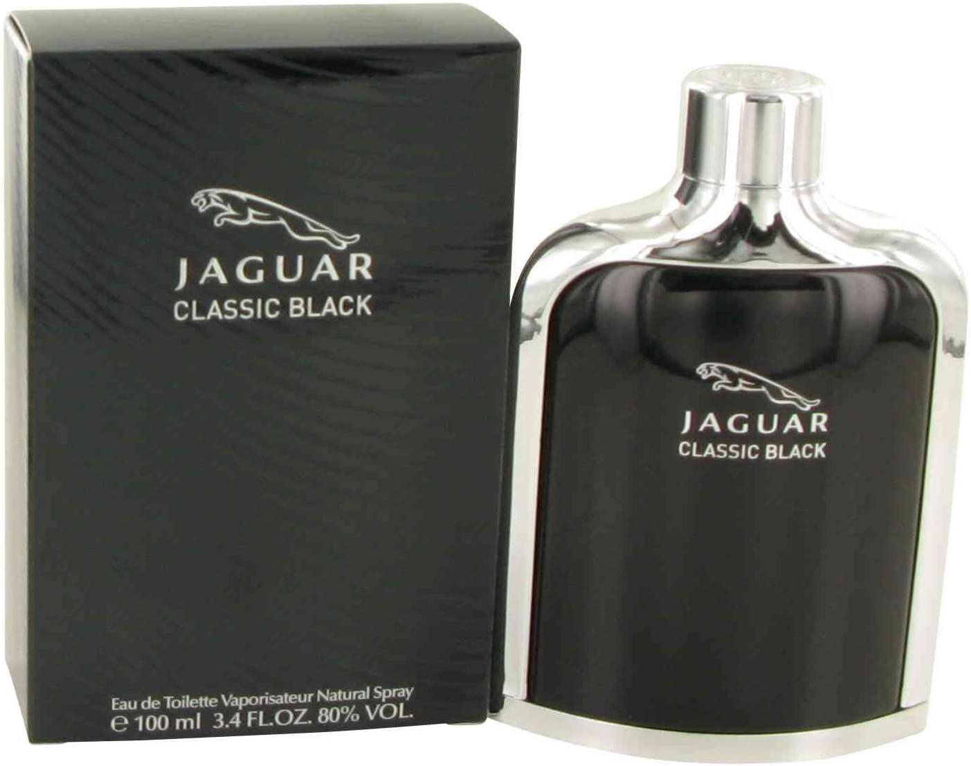 Jaguar Classic Black men cologne by Jaguar Eau De Toilette Spray 3.4 oz by Jaguar