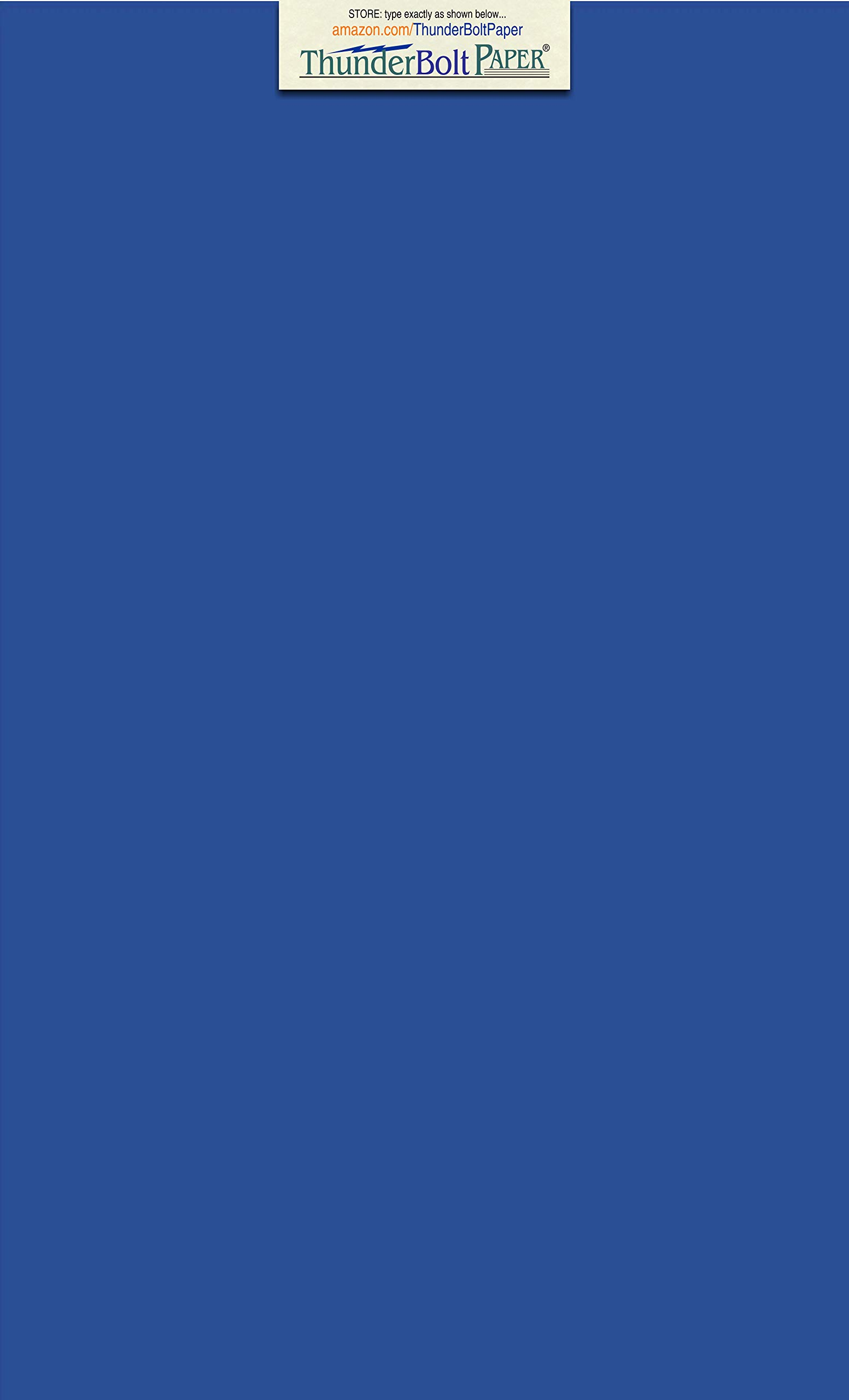 150 Bright Royal Blue 65# Cardstock Paper 8.5'' X 14'' (8.5X14 Inches) Legal|Menu Size - 65Cover/45Bond Light Weight Card Stock - Bright Printable Smooth Paper Surface by ThunderBolt Paper