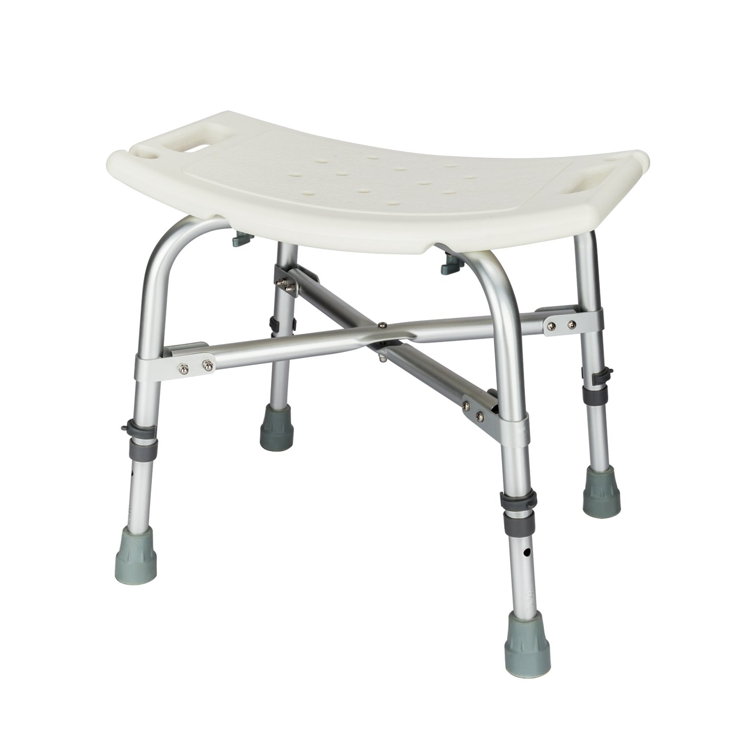 Mefeir Medical Shower Chair Bath Stool Transfer Bench Seat,Heavy Duty 450LBS Upgrade Framework SPA Bathtub Chair,No-Slip Adjustable 6 Height (Normal)