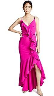 eeae8c08 Marchesa Notte Women's V Neck Tulle Glitter Gown at Amazon Women's ...
