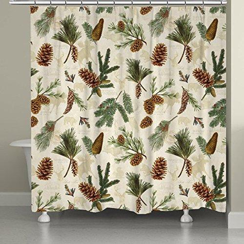 Evergreen Pinecones Shower Curtain