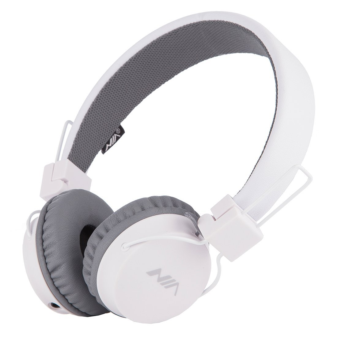 SODEE Folding Stereo Wired Headphones For Kids,Girls Headphones,Boys Headphone,In-line Microphone Remote Control Adjustable Over ear Headphone Kids Headsets with Soft Earpads for Cellphones (white)
