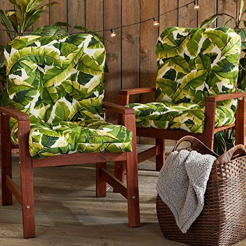 South Pine Porch AM6815S2-PALM-WHITE Palm Leaves White Outdoor Seat/Back Chair Cushion Review