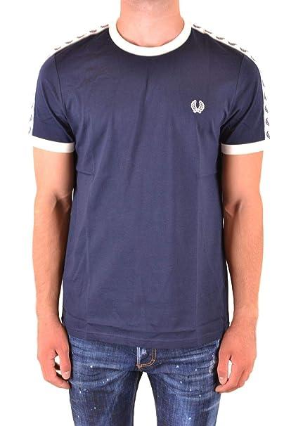 Fred Perry Luxury Fashion Hombre FPM634730584 Azul T-Shirt | Otoño ...