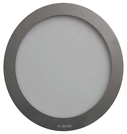 Roblan LEDPANEL18H Panel Empotrable, 18 W, Cromo Mate