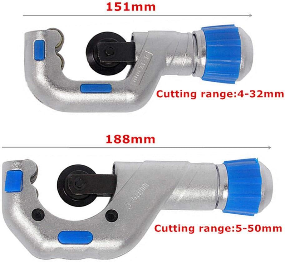 Coupe-tube SENRISE 4 EVERHOPE multicolore Coupe-tube /à roulement /à rouleaux robuste en cuivre PVC et acier inoxydable avec palier de pouss/ée Outil de coupe EMT