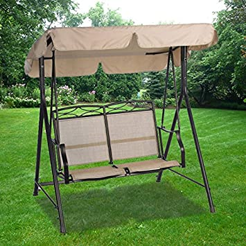 Flat Roof 2-Seater Swing Replacement Canopy Top Cover & Amazon.com : Flat Roof 2-Seater Swing Replacement Canopy Top Cover ...