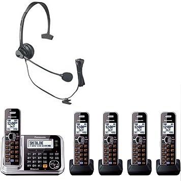 Bluetooth teléfonos inalámbricos Panasonic – Teléfono inalámbrico con cinco, diez batería pilas y Panasonic auricular manos libres Bundle Set ideal para hogar y pequeña oficina uso: Amazon.es: Electrónica