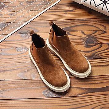 Shukun Botines Sen Botines para Mujer Literario Salvaje Casual Color Caramelo Martin Botas Frosted PU Conjunto de Fondo Plano Pie Algodón Zapatos de Mujer: ...