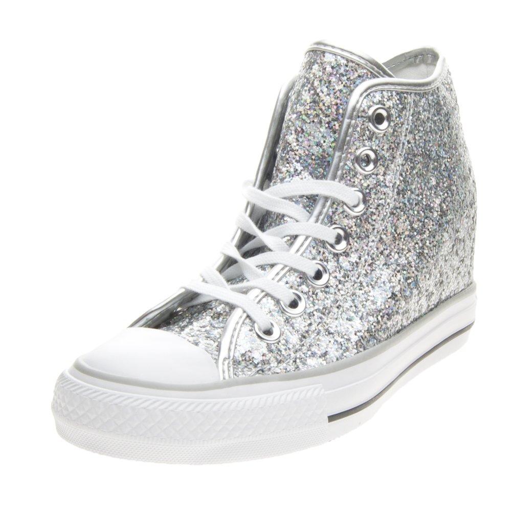 Converse - Converse Lux Mid Damenschuhe Silber Glitzer 552698C - Silber 41