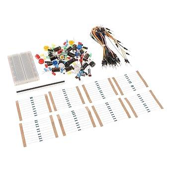 B Blesiya Kit Resistor Led Capacitor Jumper Cables Practical