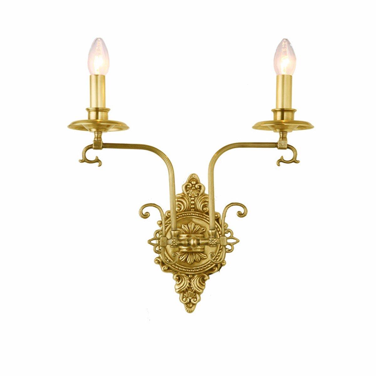 HBDLH-Altare Lampada Lamp Tutti Di Rame Nuovo Classico Doppia Testa Antico Muro Lampada.